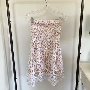 Francesca's White Strapless Dress